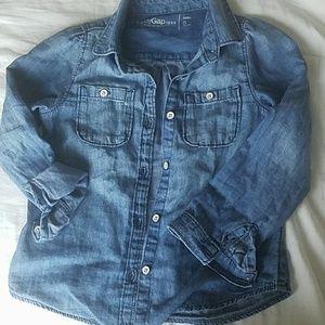 Babygap chambray / denim shirt